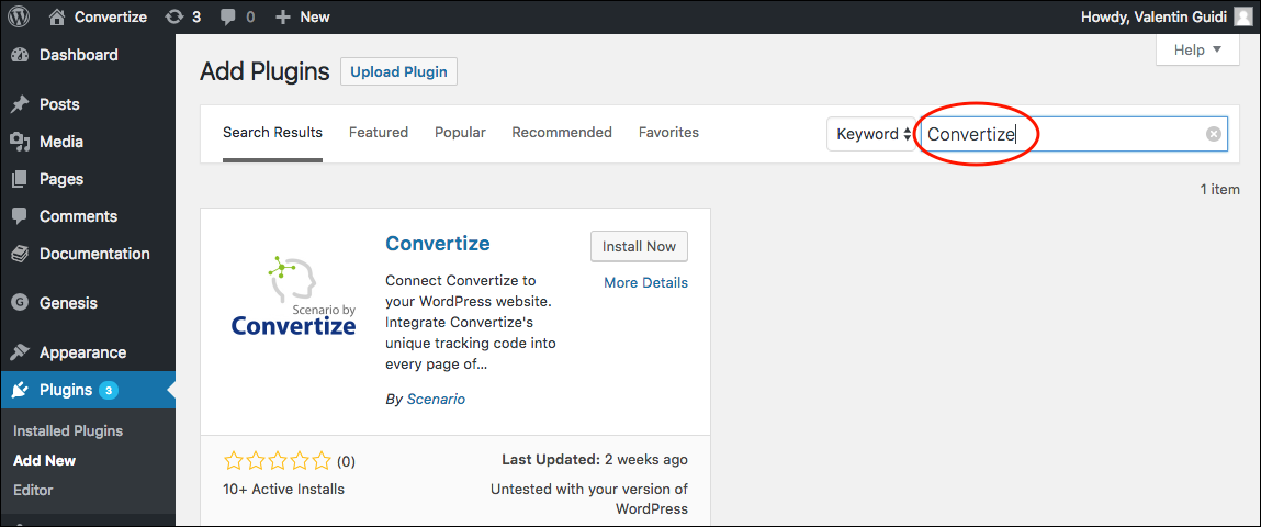 install_pixel_wordpress_convertize