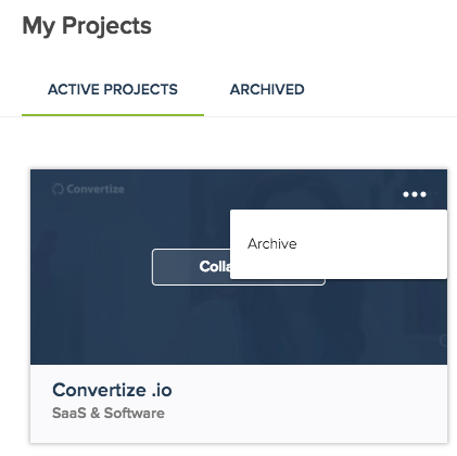 archive project convertize ab testing