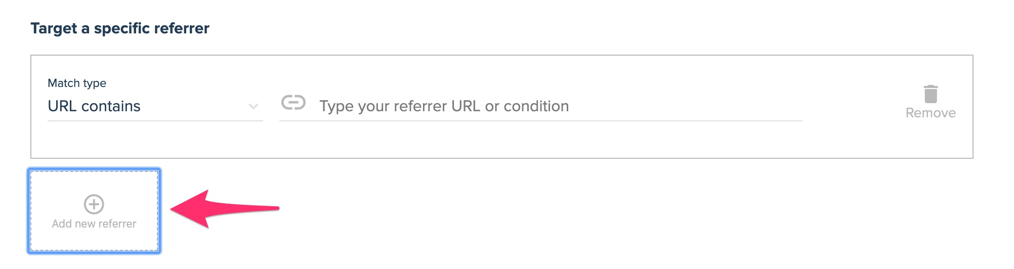 target a specific referrer