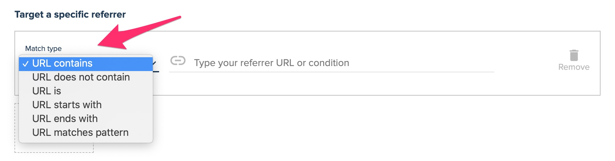 url targeting referrer